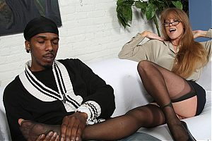 mature interracial cougar1 tn Darla Crane bends over to get her ass filled with a black cock