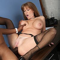 mature interracial cougar7 tn Darla Crane bends over to get her ass filled with a black cock