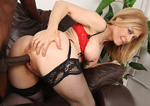 5 1 20 Interracial MILF Nina Hartley gets fucked hard