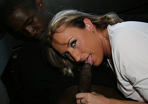 6 1 20 Interracial MILF action in the car with Joey Lynn