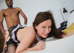 04 Euro MILF Lara Latex takes on a big, black cock